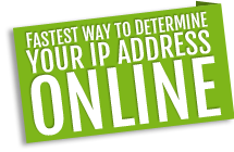 Fastest and easiest way to determine your current IP address online!